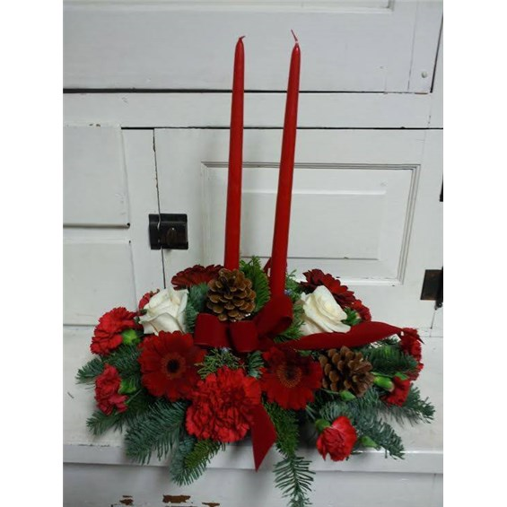 2candleredcenterpiece